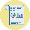 analytics, buiness, paper, presentation, report, seo, statistics icon