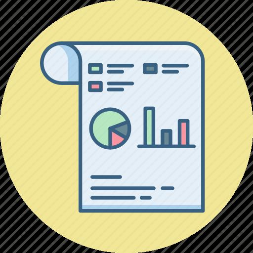 analytics, buiness, paper, presentation, report, seo, statistics icon