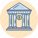 bank, building, estate, house, property, real, treasury icon