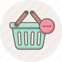 basket, cart, delete, ecommerce, online, remove, shop icon