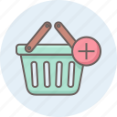 add, buy, cart, ecommerce, plus, shipping, shopping icon