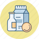 beverage, beverages, breakfast, drink, fresh, milk icon