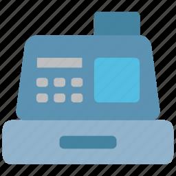 cash, cashier, dollar, pay, payment, register, supermarket icon