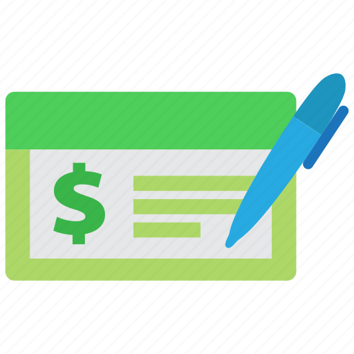 bank, banking, check, cheque, finance, money, payment icon