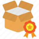 award, box, good, goods, high quality, product, quality icon