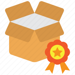 award, box, good, goods, high quality, product, quality icon