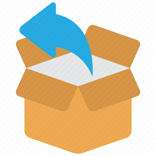 box, deliver, delivery, order, package, return, shipping icon