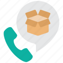 box, help, package, product, service, support, warranty icon