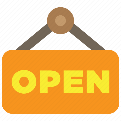 market, open, plate, shop, sign, store, supermarket icon