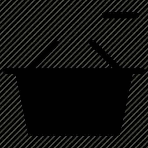 basket, close, creative, delete, drop, ecommerce, grid, minus, online, remove, remove-basket, shape, shop, shopping, trash, web-shop icon