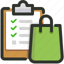 clipboard, list, shopping icon