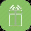 box, circle, gift icon