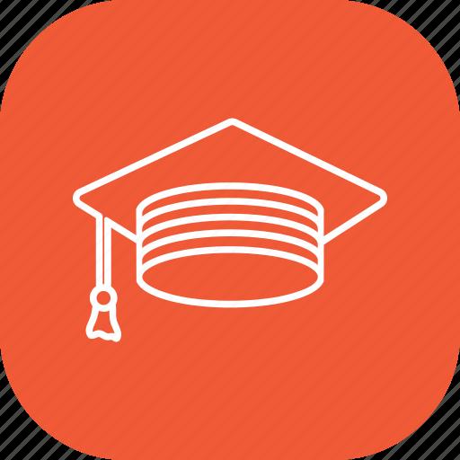 academia, cap, education, graduate, graduation icon