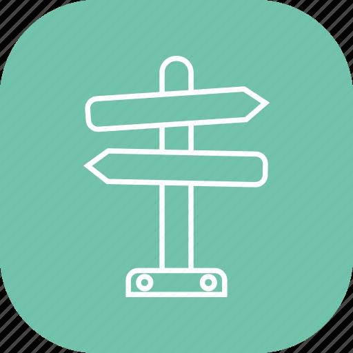 arrow, arrows, direction, post, road, sign icon