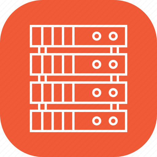 database, hardware, linux, server icon