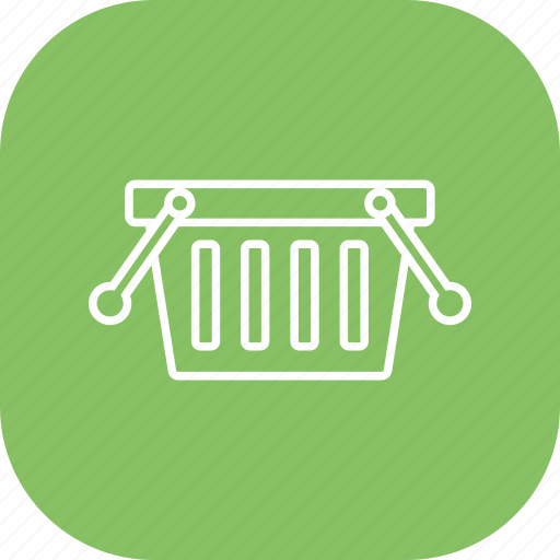 basket, groceries, online shopping, shopping cart icon