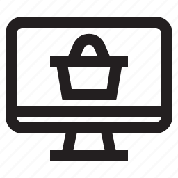 computer, internet, online, online shopping, shopping icon