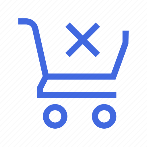 action, cart, clear, remove, shopping icon