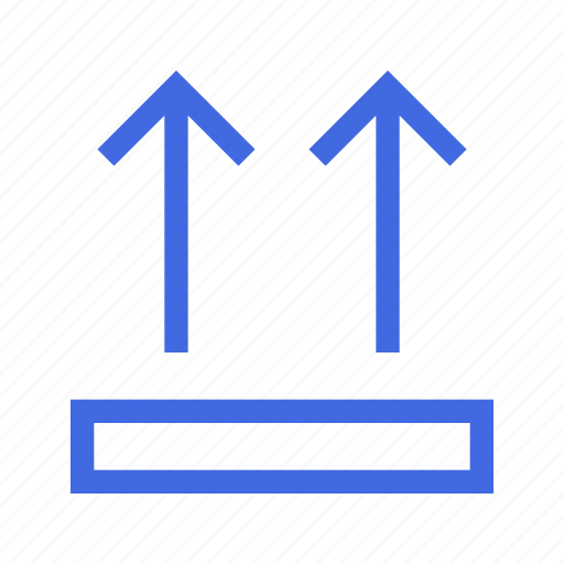 box, logistic, shipping, side, top, up icon