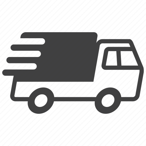 car, delivery, express, fast, quick, truck, vehicle icon