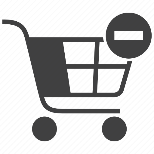 buy, cart, delete, ecommerce, from, remove, shopping icon