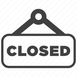 close, closed, plate, shop, sign icon
