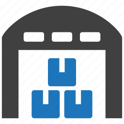 goods, logistics, shopping, storage, store, store house, warehouse icon