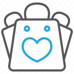 bag, basket, favorite, favourite, like, love, shopping icon