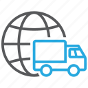 deliver, delivery, global, shipment, shipping, transport, transportation icon