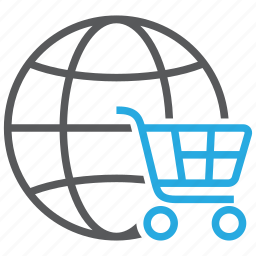 buy, cart, ecommerce, global, online, shop, shopping icon