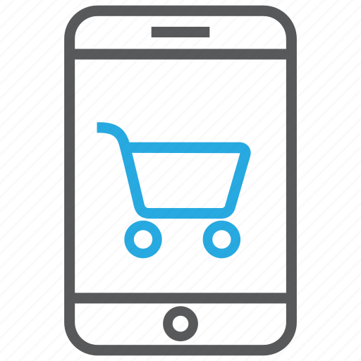 buy, cart, mobile, online, phone, shop, shopping icon
