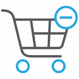 buy, cart, delete, from, remove, shopping, store icon