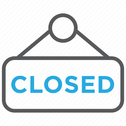 buy, closed, plate, shop, shopping, sign, store icon