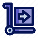 cart, commerce, delivery, shipment, shipping, shopping, trolley icon