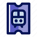 ecommerce, railway, train, train ticket, transport, transportation, travel icon