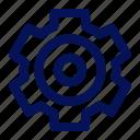 cog, cogwheel, commerce, ecommerce, gear, setting, settings icon