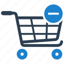 cart, delete, remove, shopping icon