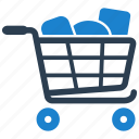 shopping, cart, grocery