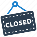 closed, shop, sign, store icon
