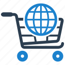 cart, ecommerce, global, shipping, shopping icon