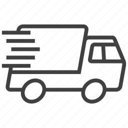 deliver, delivery, express, fast, quick, transporter, truck icon