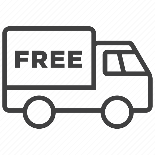 car, delivery, free, shipping, transport, truck, vehicle icon