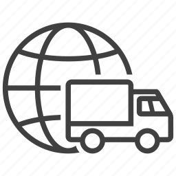 delivery, global, shipment, shipping, transport, transporter, truck icon