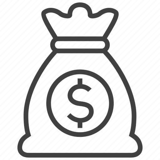 bag, currency, dollar, finance, money, profit, turnover icon