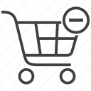 basket, cart, delete, from, remove, shop, shopping icon