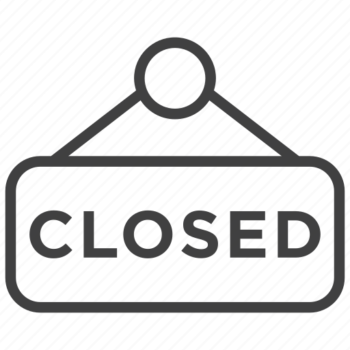 closed, ecommerce, plate, shop, shopping, sign, store icon