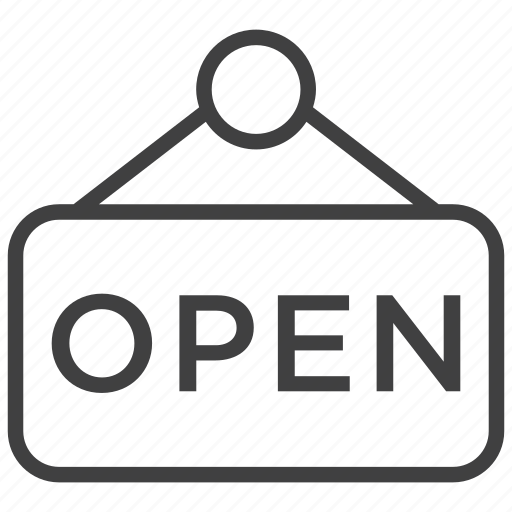 buy, open, plate, shop, shopping, sign, store icon
