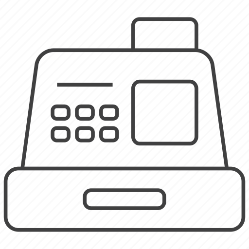 cash, cashier, finance, money, payment, register, supermarket icon