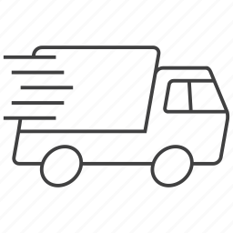 delivery, express, shipment, shipping, transportation, truck, vehicle icon