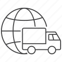 delivery, global, globe, shipment, shipping, transport, transportation icon